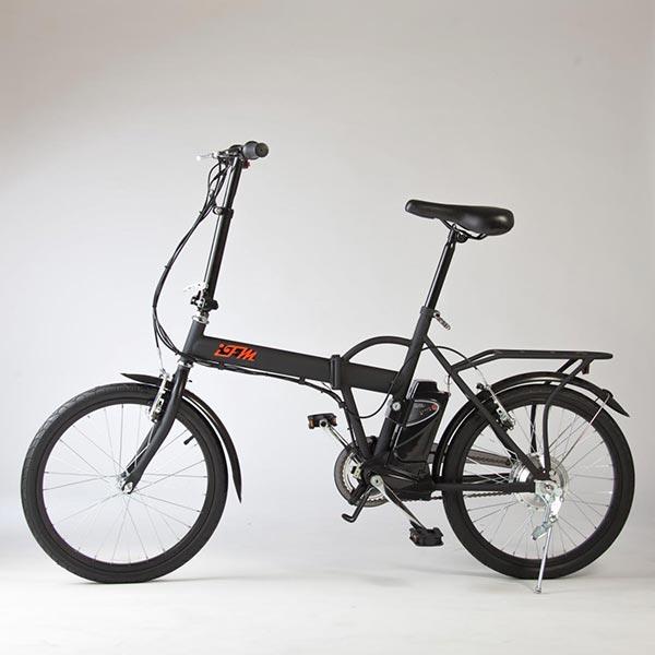 Bicicletta-elettrica-pieghevole-IFM-nera-con-batteria-agli-ioni-di-litio-2
