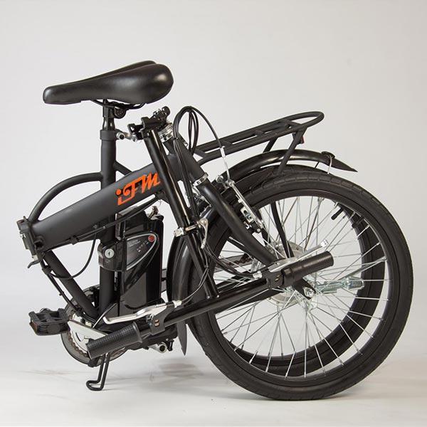 Bicicletta-elettrica-pieghevole-IFM-nera-con-batteria-agli-ioni-di-litio-3