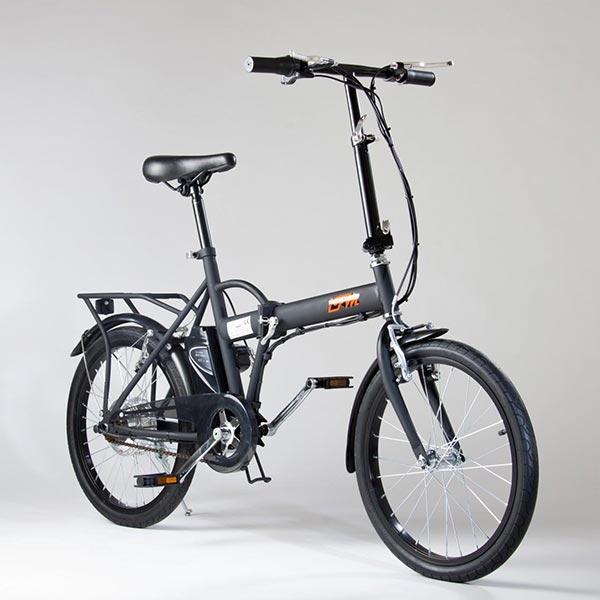 Bicicletta-elettrica-pieghevole-IFM-nera-con-batteria-agli-ioni-di-litio