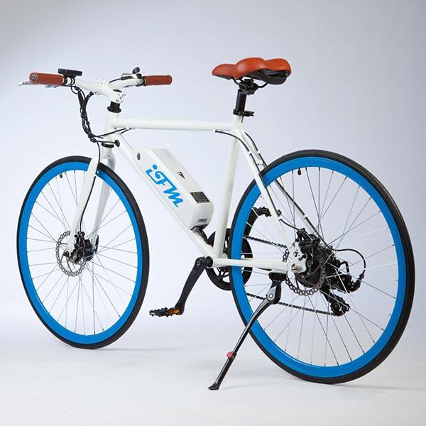 City-bike-elettrica-IFM-blu-da-uomo-con-batteria-al-litio-2