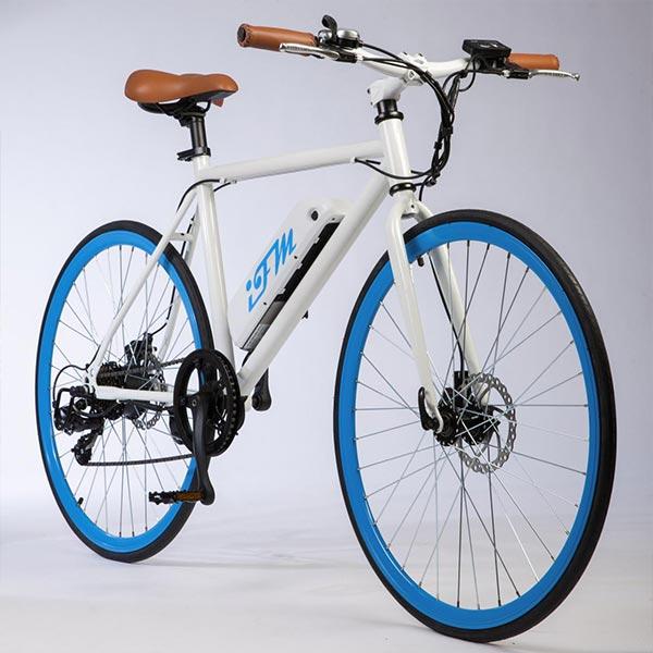 City-bike-elettrica-IFM-blu-da-uomo-con-batteria-al-litio
