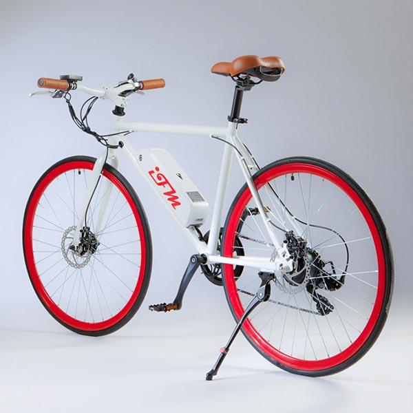 City-bike-elettrica-IFM-rossa-da-uomo-con-batteria-al-litio-2