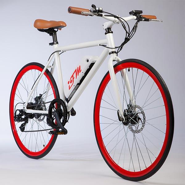 City-bike-elettrica-IFM-rossa-da-uomo-con-batteria-al-litio