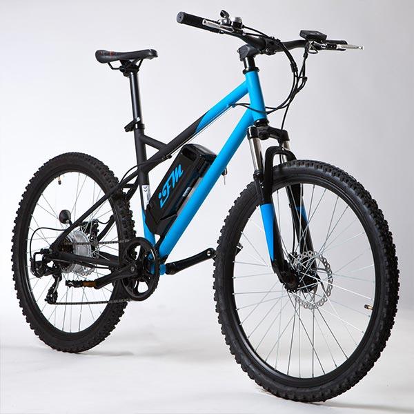 Mountain-bike-elettrica-IFM-blu-e-nera-con-batteria-al-litio-36V-8Ah